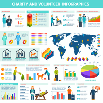 charity volunteer infographic
